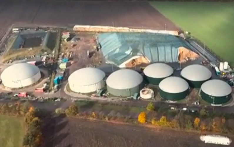 The firm's biogas plant