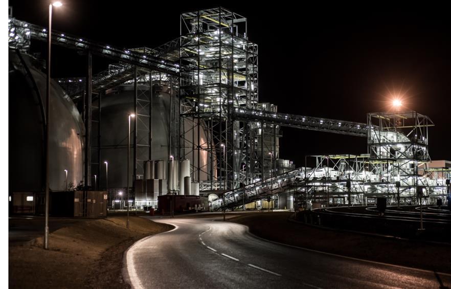 Biomass domes, image copyright Drax
