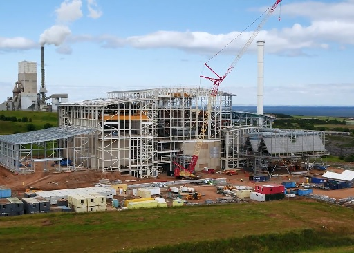 The Dunbar EfW plant pictured earlier in its construction, image Viridor