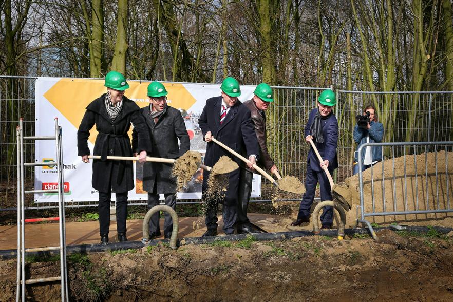 Politicians and business leaders put the first shovels in the ground