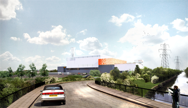 An artist's impression of the EfW facility
