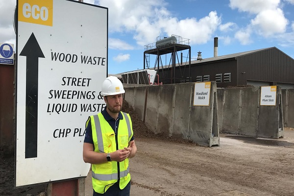 """Eco's chief operating officer, Justin Dampney: """"There is still a huge amount of waste going to landfill."""""""