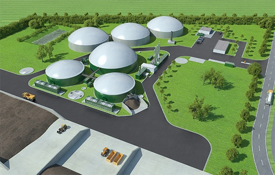 An artist's impression of a Ecotricity biogas facility