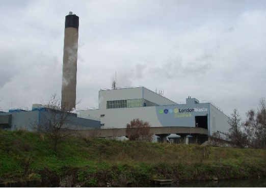 The site's EfW plant, copyright Wikipedia