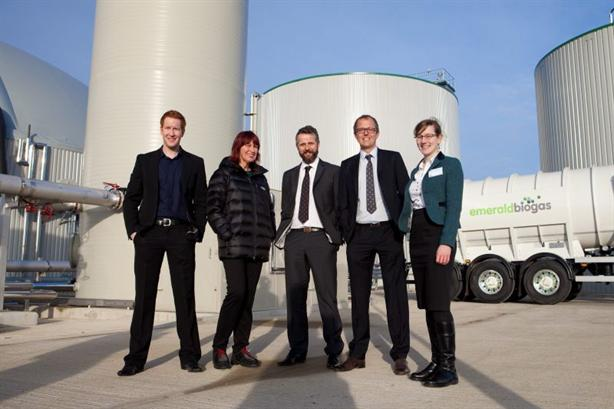 Dignitaries including TV presenter Janet Street-Porter at the opening of the plant