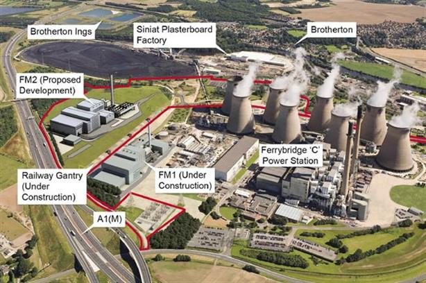 The Ferrybridge Multifuel 2 plant would be built alongside an existing coal-fired power station