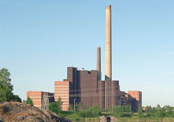 Helsinki Energia's Salmisaari power plant
