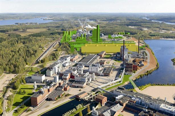 A €1.1bn bioproduct mill in Äänekoski were the two firms will work together