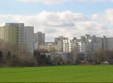 Berlin's Märkisches Viertel, a densely populated housing estate