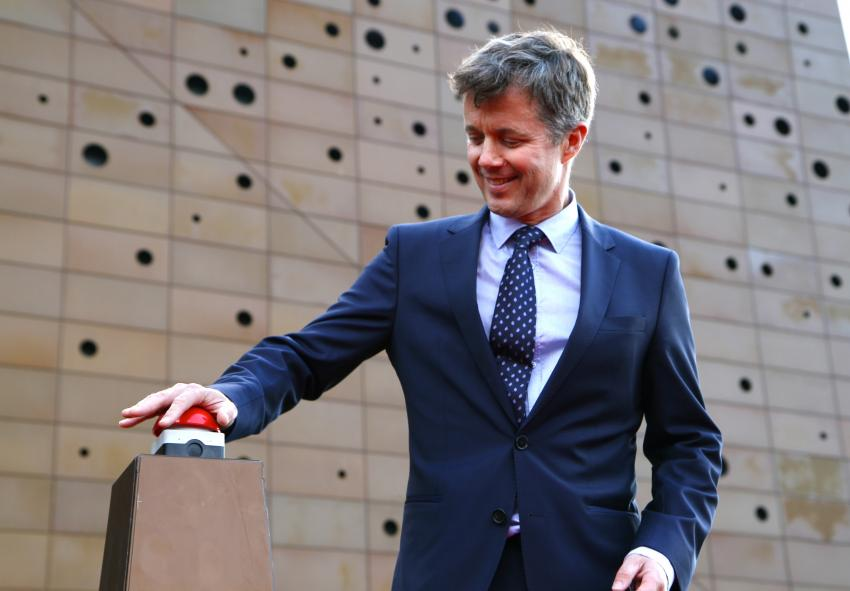 Denmark's crown prince Frederik opens the plant