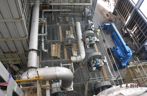 The Glasgow plant's gasification system