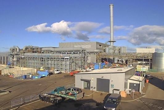 The EfW plant, image Viridor