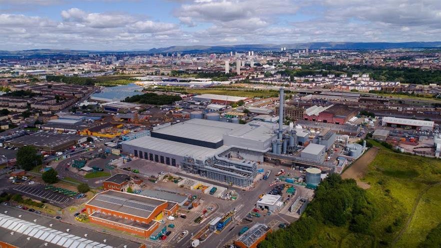 The Glasgow EfW plant, image Viridor