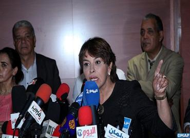 Morocco's environment minister Dr Hakima El Haite defending the imports