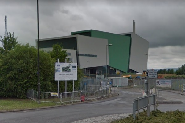 The EfW plant is now operational, image copyright google.co.uk