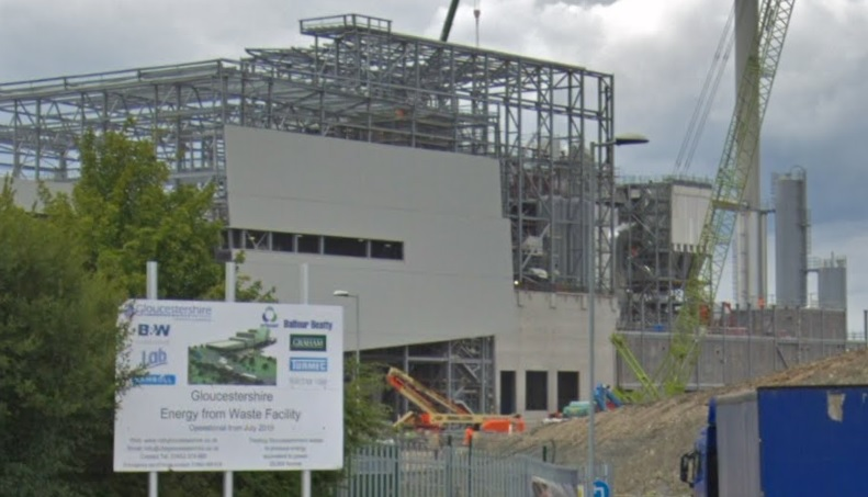 The plant pictured last year during construction