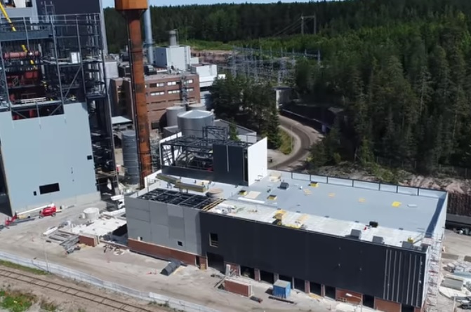 The plant pictured during construction, image copyright Lahti Energia