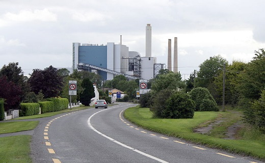 The Lough Ree power station