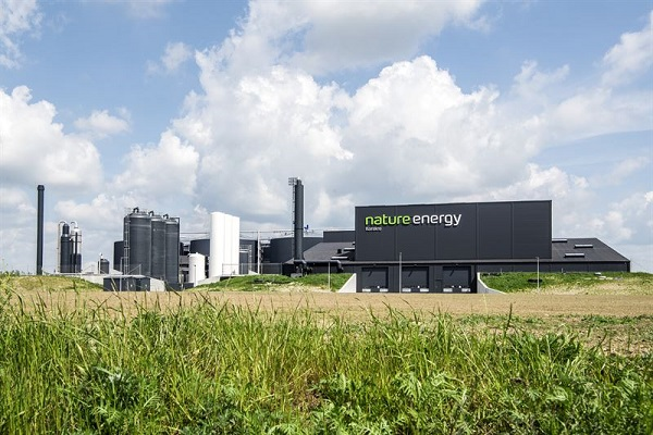 The Korskro biogas plant in Denmark, delivered by Wärtsilä in 2018, owned and operated by Nature Energy. © Nature Energy, photographer Claus Haagensen