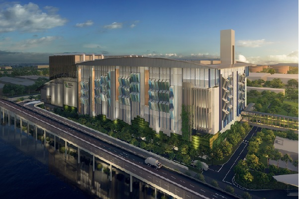 The Integrated waste and water treatment facility, Singapore. image copyright: NEA
