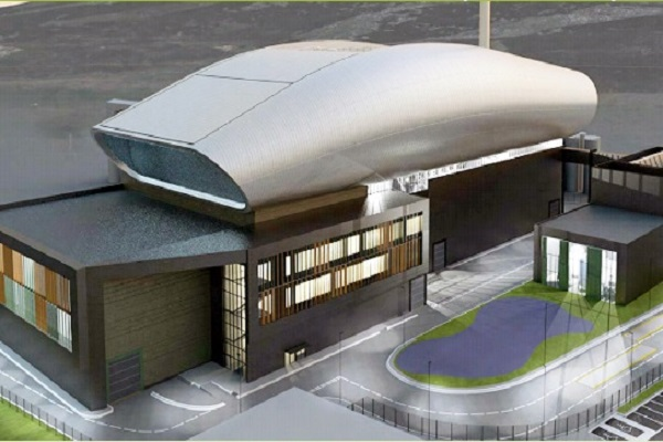An artist's impression of the NESS EfW plant