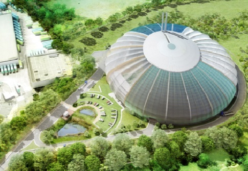 An artist's impression of the the New Barnfield EfW plant