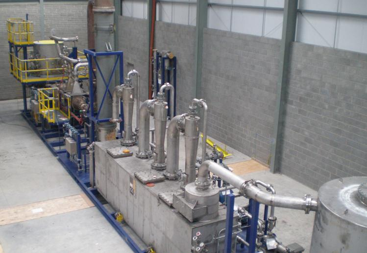 The interior of the Newry biomass plant