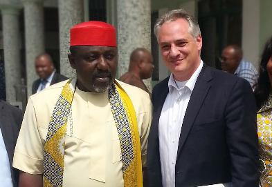 Governor Of Imo State Owelle Rochas Okorocha and ENTRADE CEO Julien Uhlig