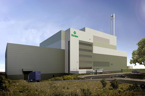 An artist's impression of Viridor's planned Overwood EfW plant