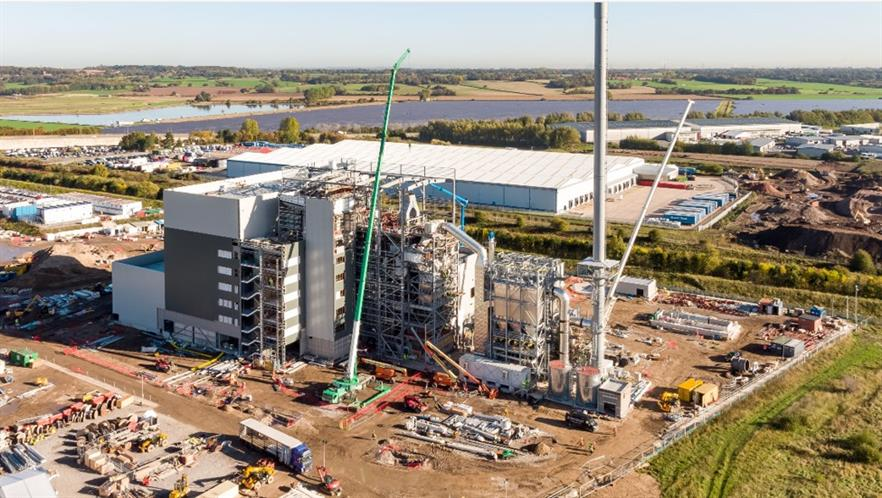The plant during construction last year, image copyright wtiparcadfer.co.uk