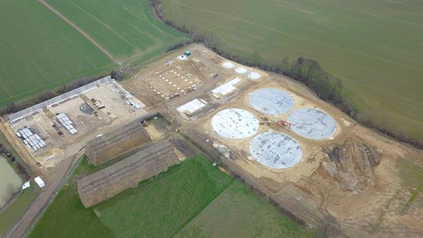The site during construction earlier this year, image copyright Weltec