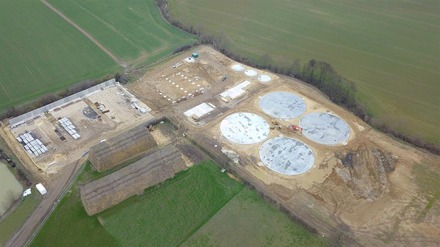 The facility under construction, image copyright Weltec