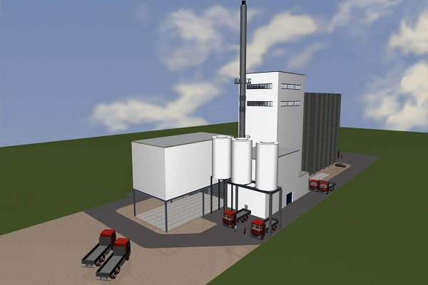 An artist's impression of the EfW plant