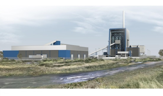 An artist's impression of the Port Clarence facility
