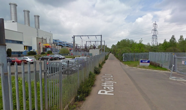 The EfW plant is planned for Ratty's Lane in Hoddesdon, copyright Google.co.uk