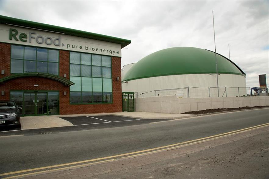 Refood's Widnes plant was upgraded by Greenlane, image copyright Refood