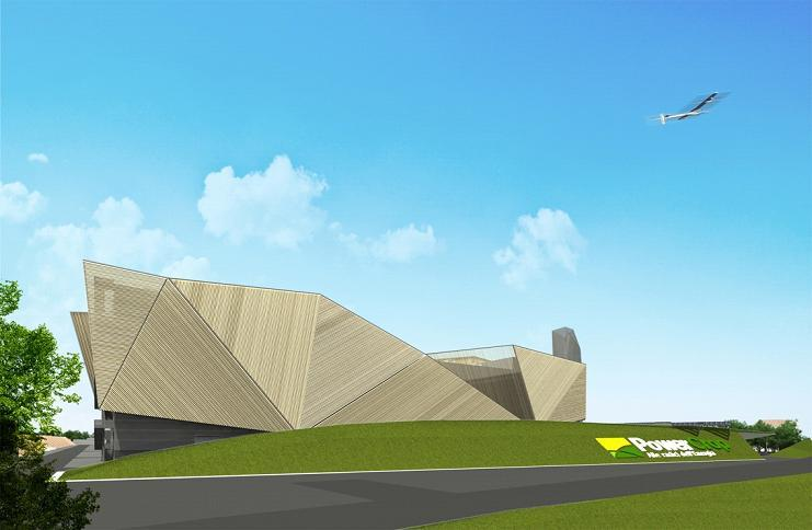 An artist's impresson of the combined biomass and biogas plant the company is building