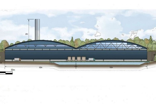 An artist's impression of the EfW plant, image copyright GFC