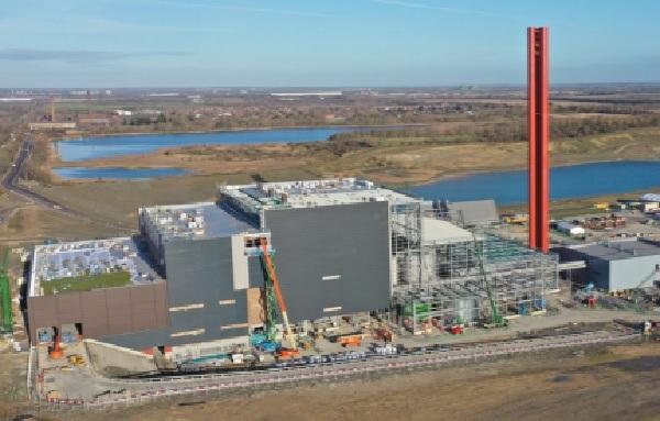 The EfW plant, last December. Image copyright Covanta