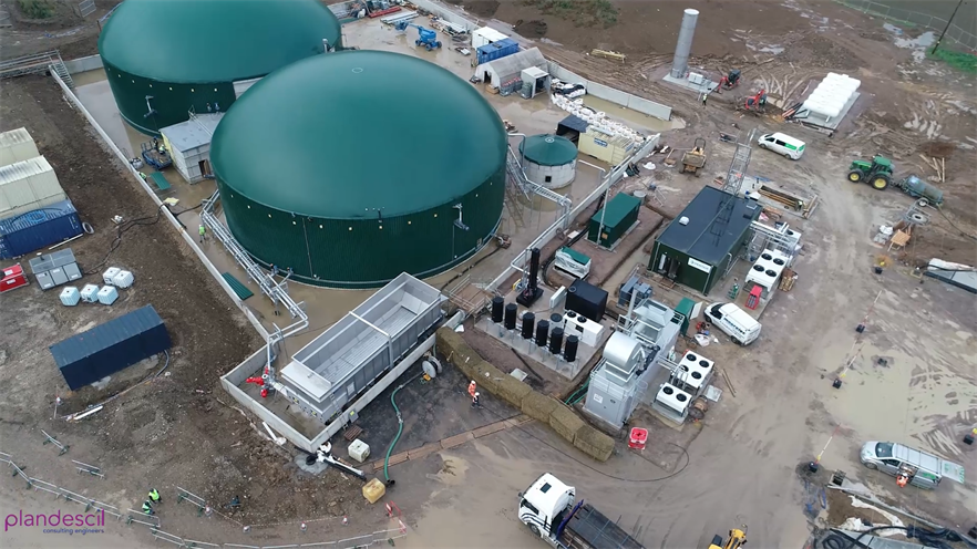 The biogas plant
