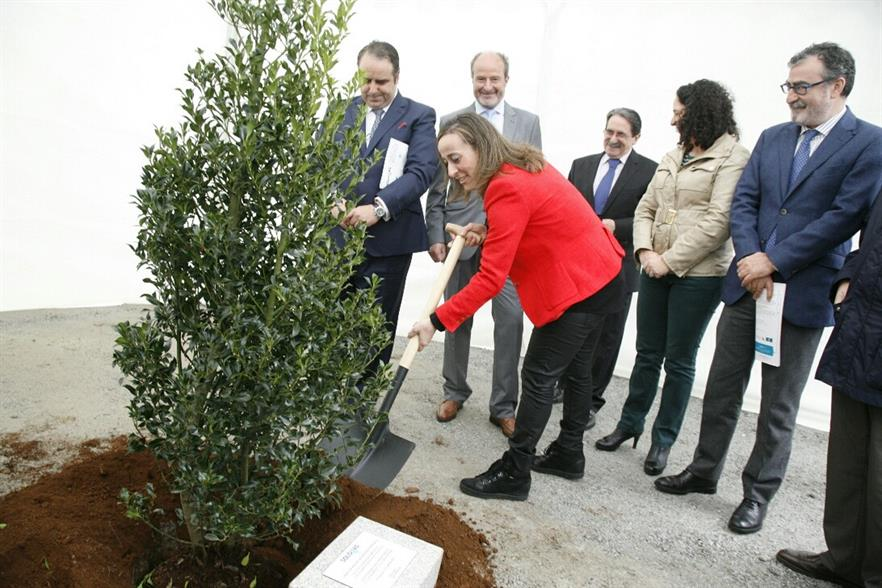 Xunta de Galicia environment minister, Ethel Vázquez, at the opening ceremony
