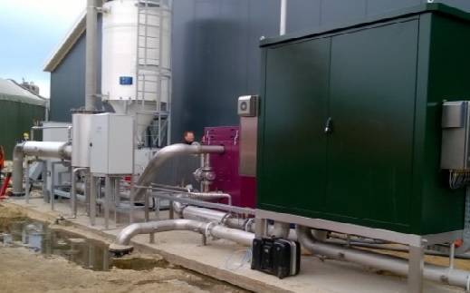 The biogas connection at Gebroeders Oude Lenferink