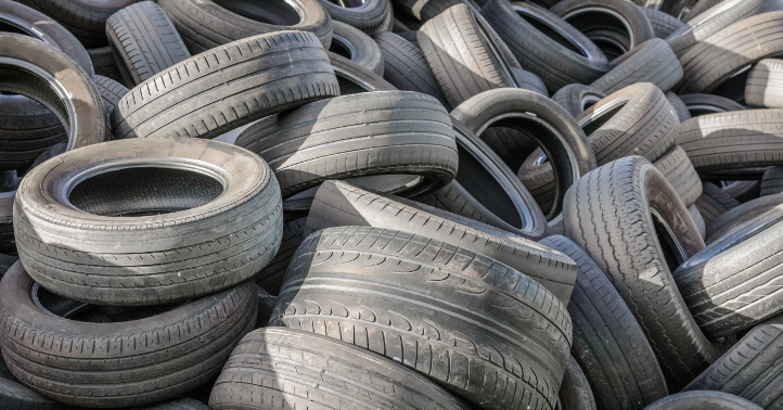 Tyres are among the plant's feedstock