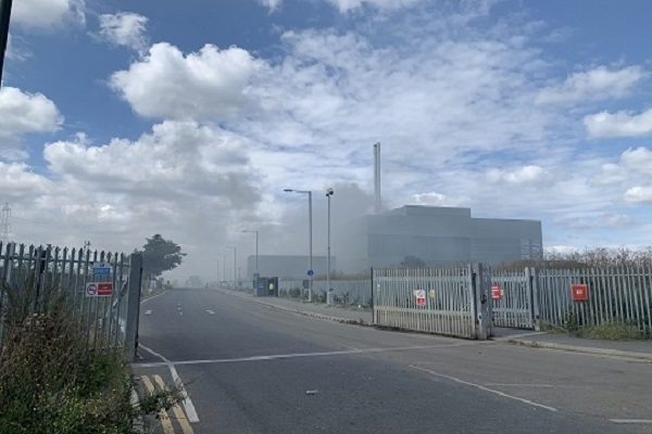 Smoke covered the site during the incident last year