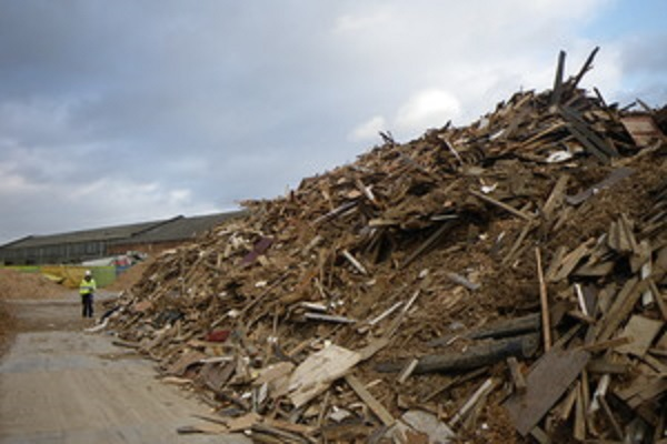 Waste wood left at Prime's site