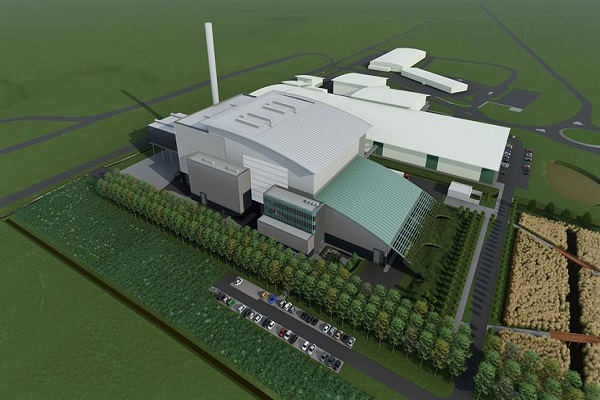 What is could have looked like, an artist's impression of the EfW plant