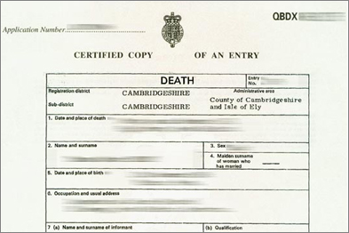 Death certificate: confidentiality may conflict with statutory regulations