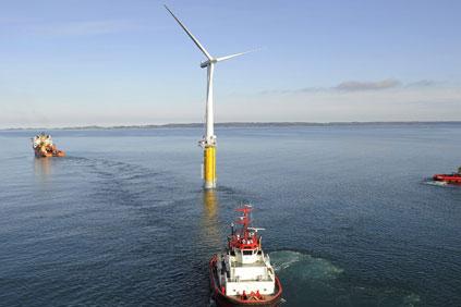 Statoil's existing Hywind floating test platform uses a Siemens turbine