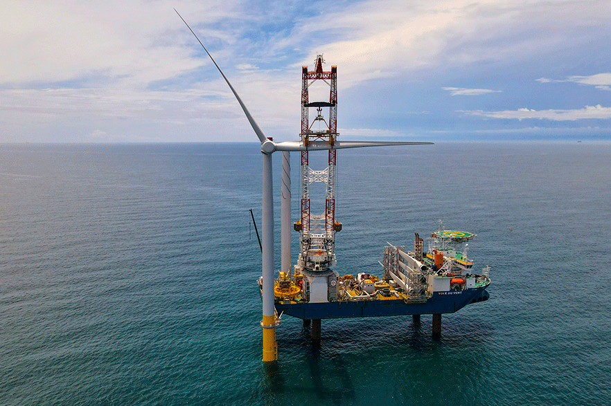 The 12MW hurricane-resistant Coastal Virginia Offshore Wind pilot came online in 2020. A 2.6GW project is planned for 2026 (pic: Horizon Energy)