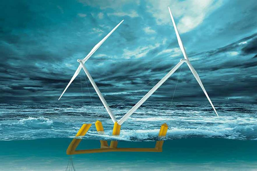 Radical vision… Aerodyn's two-blade, twin-rotor 15MW floating concept